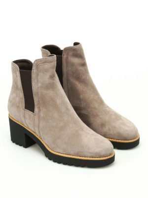 Hogan: ankle boots online - H277 suede ankle boots
