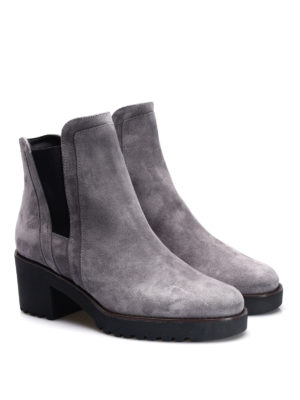 Hogan: ankle boots online - H277 suede booties