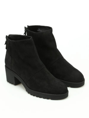 Hogan: ankle boots online - H277 zipped suede ankle boots