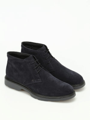 Hogan: ankle boots online - H304 New Route suede ankle boots