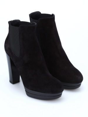 Hogan: ankle boots online - H313 suede ankle boots