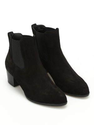 Hogan: ankle boots online - H314 heeled suede Chelsea boots