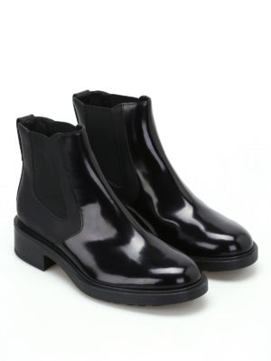 Hogan: ankle boots online - H332 leather and napa booties