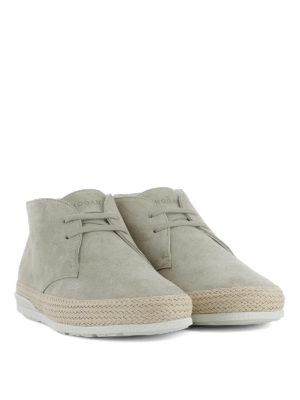 Hogan: ankle boots online - H358 Derby beige desert boots