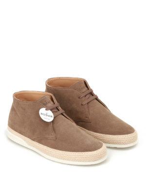 Hogan: ankle boots online - H358 Derby suede desert boots
