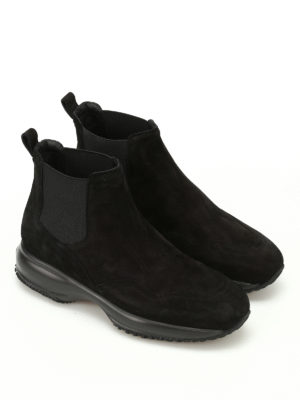 Hogan: ankle boots online - Interactive Chelsea suede boots