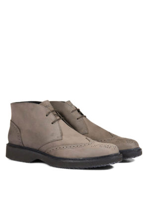 Hogan: ankle boots online - Leather Route H217 ankle boots