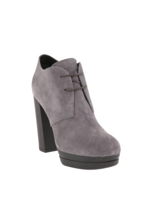 Hogan: ankle boots online - Opty H299 suede booties
