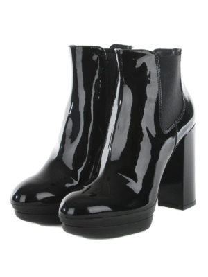 Hogan: ankle boots online - Patent leather ankle boots
