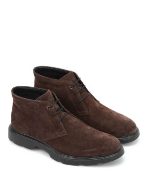 Hogan: ankle boots online - Route suede ankle boots