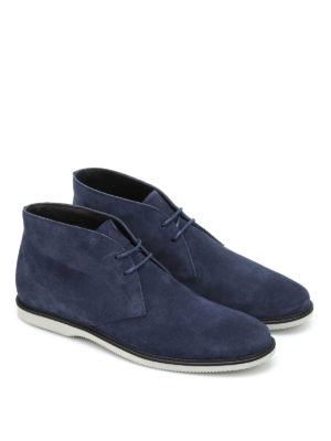 Hogan: ankle boots online - Suede lace-ups ankle boots