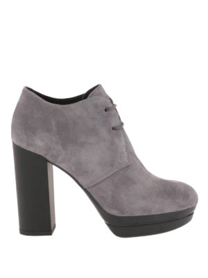 Hogan: ankle boots - Opty H299 suede booties