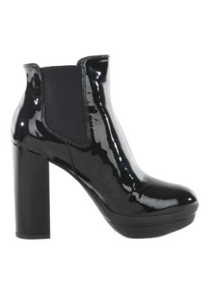Hogan: ankle boots - Patent leather ankle boots