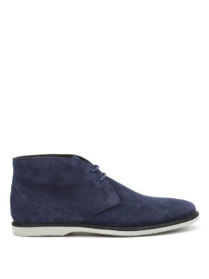 Hogan: ankle boots - Suede lace-ups ankle boots