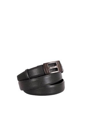 Hogan: belts - Brushed metal buckle belt