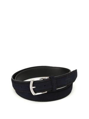 Hogan: belts - Hot stamped logo blue belt