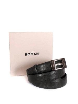 Hogan: belts online - Brushed metal buckle belt