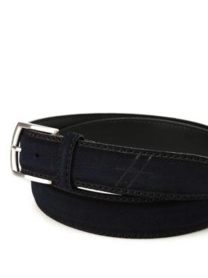 Hogan: belts online - Hot stamped logo blue belt
