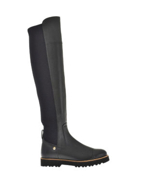 Hogan: boots - H259 Route New leather high boots