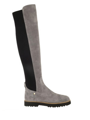 Hogan: boots - H259 Route New suede high boots