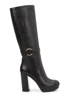 Hogan: boots - H299 Opty leather boots
