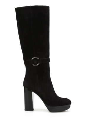 Hogan: boots - H299 Opty suede boots