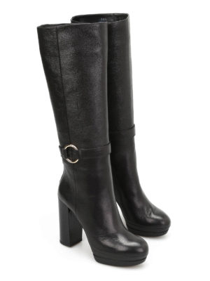 Hogan: boots online - H299 Opty leather boots