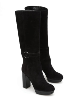 Hogan: boots online - H299 Opty suede boots