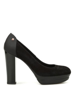 Hogan: court shoes - H313 suede pumps