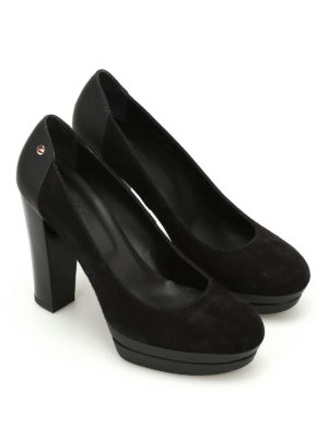 Hogan: court shoes online - H313 suede pumps