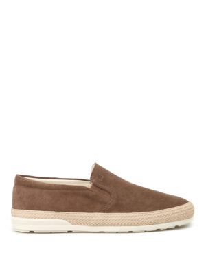 Hogan: espadrilles - Slip on H358 suede sneakers