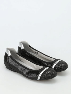 Hogan: flat shoes online - Wrap 144 crackled leather flats