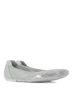 Hogan: flat shoes online - Wrap H144 embellished ballerinas