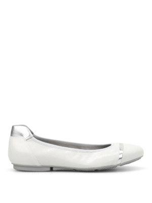 Hogan: flat shoes - Wrap 144 crackle leather ballerinas