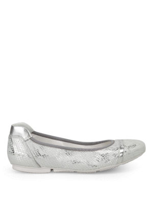 Hogan: flat shoes - Wrap 144 silver-tone ballerinas