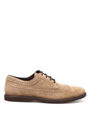 Hogan: lace-ups shoes - Club suede Derby shoes