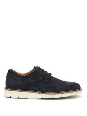 Hogan: lace-ups shoes - Dress X H322 suede Derby