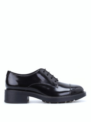 Hogan: lace-ups shoes - H 332 glossy leather lace-ups