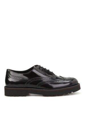 Hogan: lace-ups shoes - H259 polished leather derby shoes