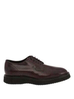 Hogan: lace-ups shoes - H271 Route leather Derby shoes