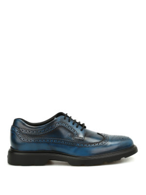 Hogan: lace-ups shoes - H304 leather Derby brogue shoes