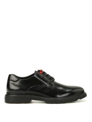 Hogan: lace-ups shoes - H304 New Route black Derby shoes
