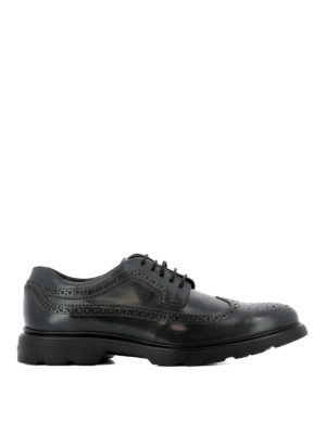 Hogan: lace-ups shoes - H304 New Route dark grey lace-ups