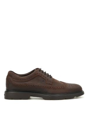 Hogan: lace-ups shoes - H304 New Route Derby brogue shoes