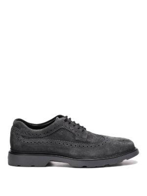 Hogan: lace-ups shoes - H304 New Route suede derby shoes