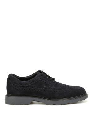 Hogan: lace-ups shoes - H304 suede Derby brogue shoes