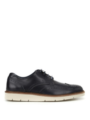 Hogan: lace-ups shoes - H322 dark blue Derby shoes