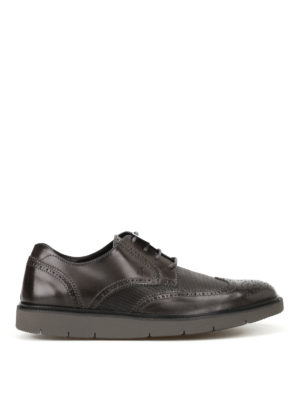 Hogan: lace-ups shoes - H322 Derby leather brogue shoes