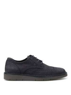 Hogan: lace-ups shoes - H322 Derby nubuck brogue shoes