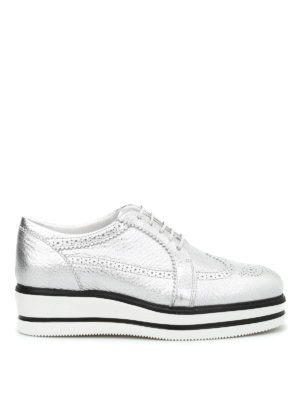 Hogan: lace-ups shoes - H323 Derby Route wedge shoes